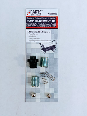 Pump Adjustment kit for select kerosene forced air models.