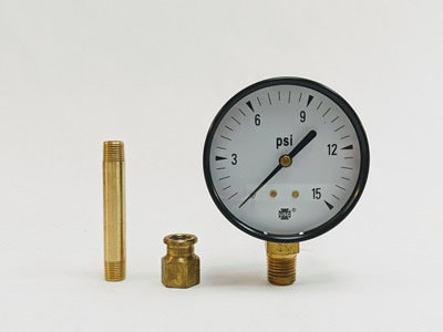 Pressure Gauge kit for select kerosene forced air models.